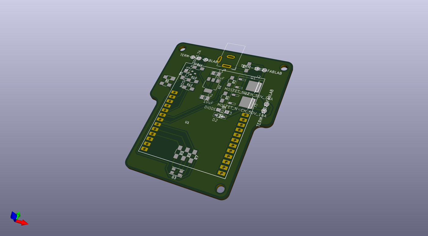 3D view generated from KiCAD